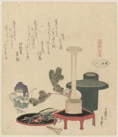 Bloem schelp; Hanagai; Een vergelijking van Genroku gedichten en schelpen; Genroku kasen kaiawase