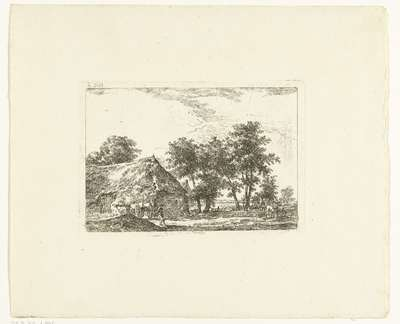 Boerenerf in Drenthe; te Ruyne in Drenthe