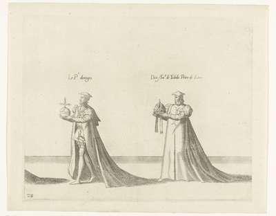 Deel van de optocht, nr. 28; Begrafenisoptocht van keizer Karel V, 1558