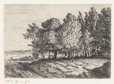 Bomen bij een pad; Kleine landschappen