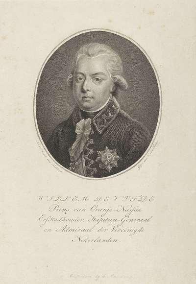 Portret van Willem V, prins van Oranje-Nassau