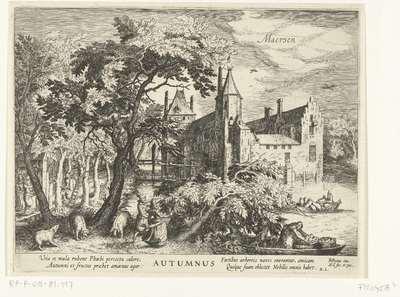 Herfst, ca. 1625; Autumnus; De vier seizoenen met kastelen
