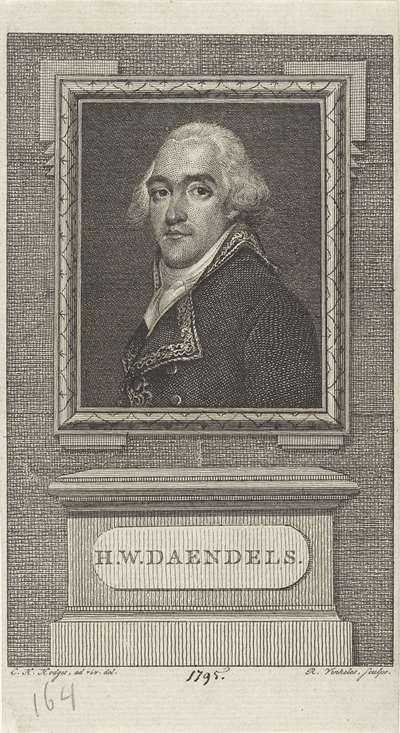 Portret van Hendrik Willem Daendels