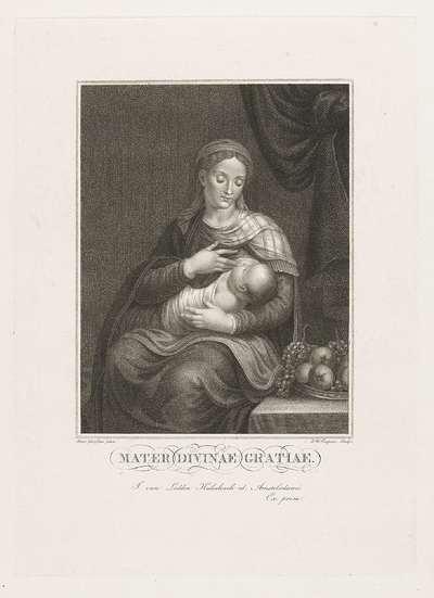 Maria met kind; Mater Divinae Gratiae