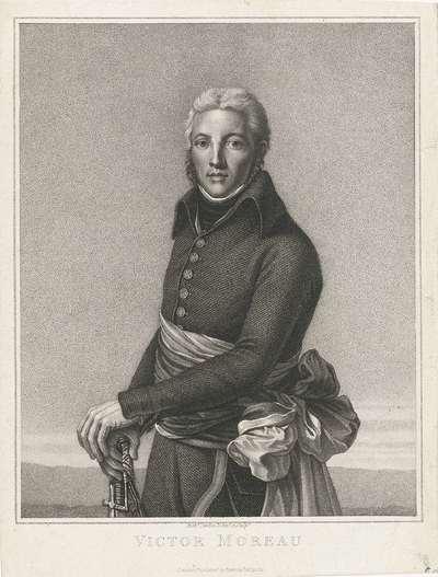Portret van generaal Jean Victor Marie Moreau