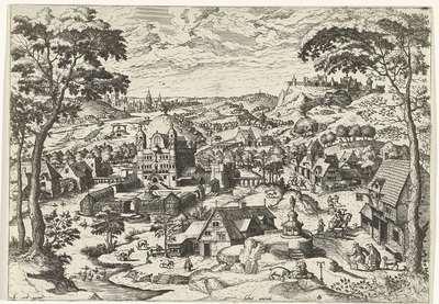 Landschap met de heilige Antonius; Salve antoni; Landschappen met christelijke verhalen