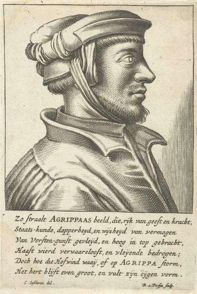 Portret van Henricus Cornelius Agrippa von Nettesheim