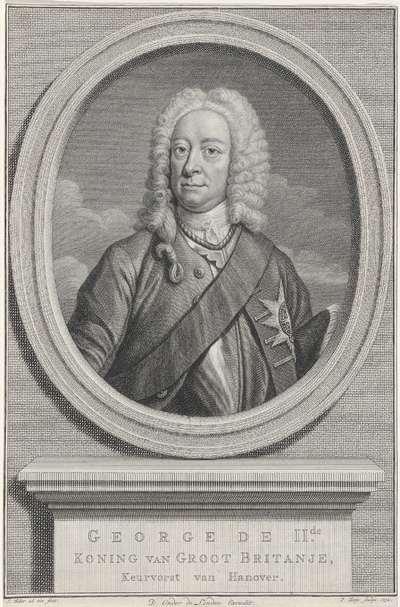 Portret van koning George I van Groot-Brittannië