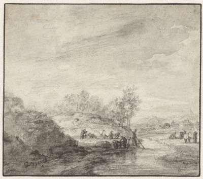 Image from object titled Heuvelachtig landschap met een beek