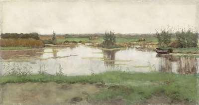 Image from object titled Een waterplas in een weiland