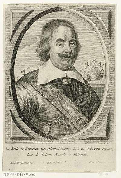 Portret van admiraal Michiel Adriaansz. de Ruyter; Theatrum pontificum, imperatorum, regum, ducum (...)