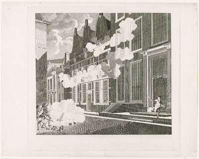 Beschieting van het huis van Lucas van Steveninck, 1787