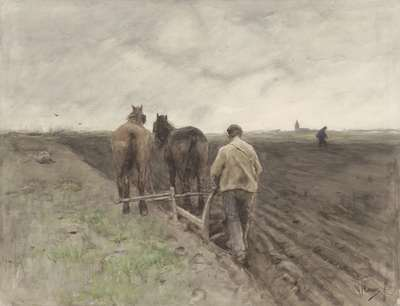 Image from object titled Farmer behind the Plough