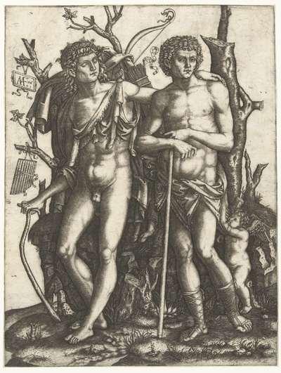 Apollo en Hyacinthus en Amor