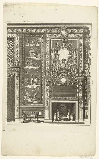 Schouw voor een wand met lakwerk; Novae cheminae