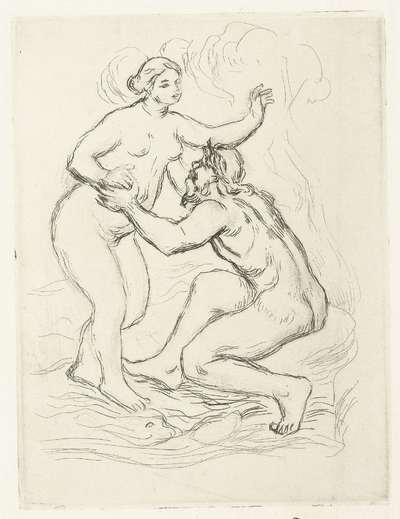 Skamandros (Scamander) en naakte vrouw; Le Fleuve Scamandre