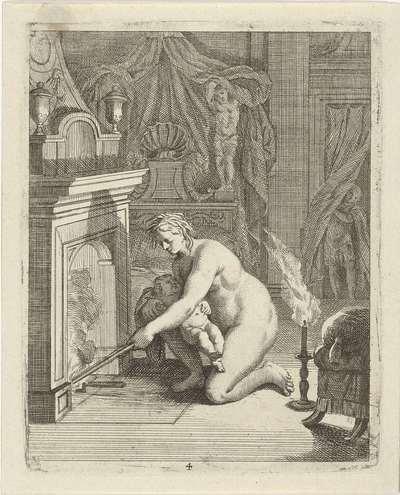Thetis stopt Achilles in het vuur; Scènes uit het leven van Achilles; Vitam et mortem achilli