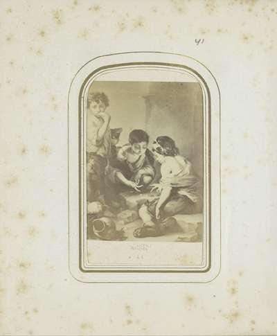Fotoreproductie van een lithografie naar een schilderij van Bartolomé Esteban Perez Murillo