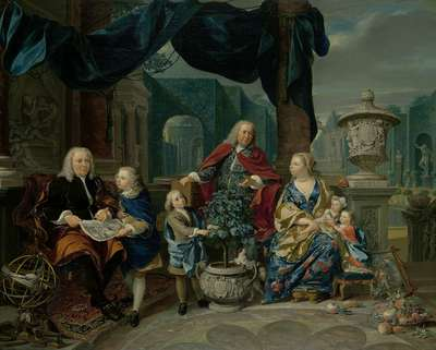 Image from object titled Portrait of David van Mollem with his Family