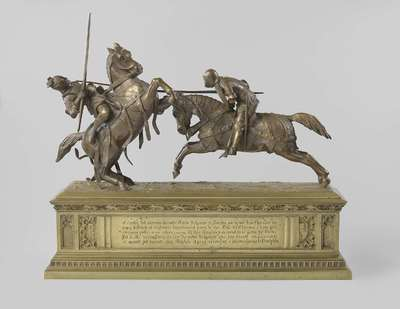 Image from object titled Twee strijdende ridders, bekend als 'Mort de Monseigneur le Duc de Clarence'