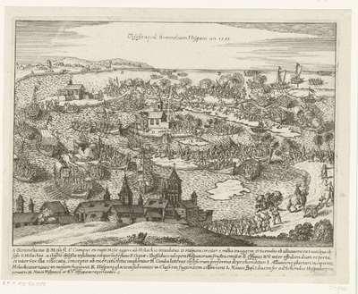 De Spanjaarden uit de Bommelerwaard verdreven door het doorsteken van de dijken, 1585; Obsessi apud Bommeliam Hispani an 1585