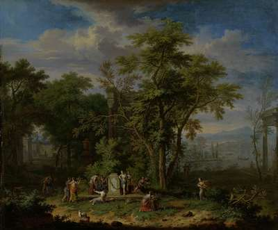 Image from object titled Arcadian Landscape with a Ceremonial Sacrifice