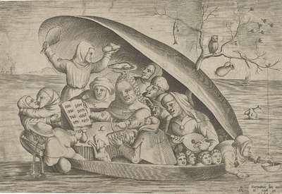 Muzikanten in een mosselschelp