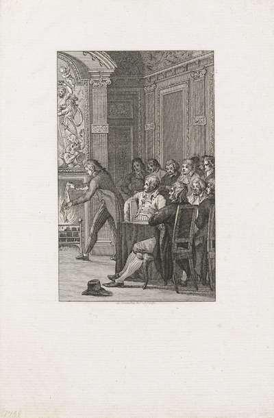 Van Laar verbrandt de Acte van Garantie, 1795