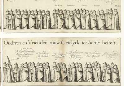 Begrafenisoptocht van Willem Frederik, graaf van Nassau-Dietz (blad 24), 1665; Rouw-Staetelijcke Lijk-pracht in de Uyt-Vaert en Begraefenisse van het ont-zielde Lichaem van (...) Wilhelm Frederich (...) Overleden binnen...