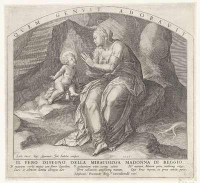 Madonna van Reggio met het Christuskind; Il vero disegno della miracolosa Madonna di Reggio