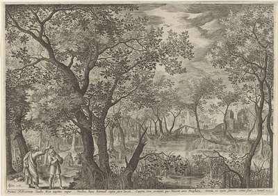 Image from object titled Samuël zalft Saul tot koning; Primus Hebraeorum Saulus Rex ungitur, impar Viribus, hunc Samuel regia (...); Royaalbijbel