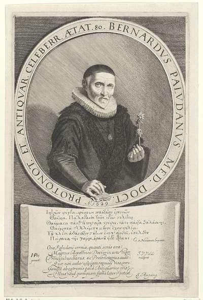 Portret van Bernard Paludanus