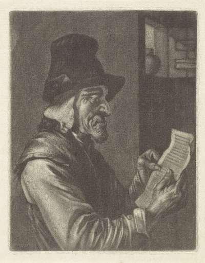 Brieflezende man