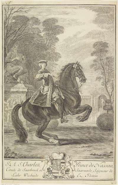 Ruiterportret van Karel van Nassau-Usingen
