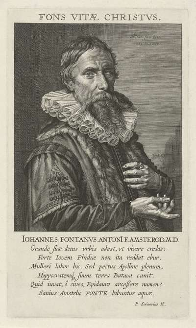 Portret van Johan Fonteyn