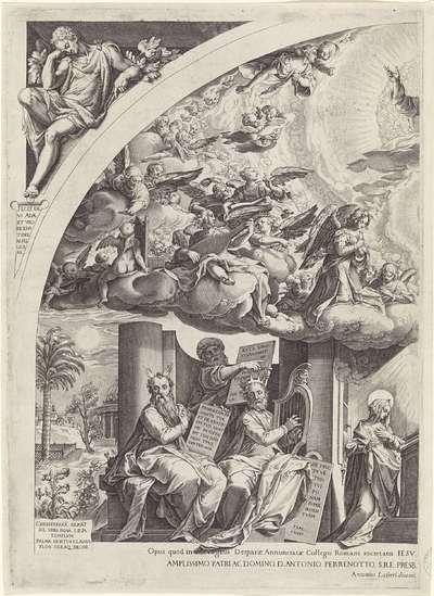Annunciatie, omgeven door profeten, linkerdeel
