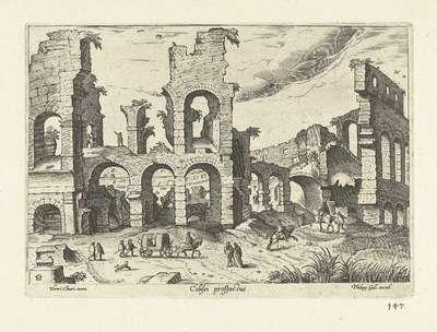 Ruïne van het Colosseum; Ruinarum varii prospectus; Colisei prospectus