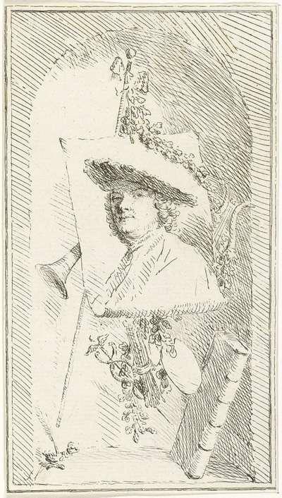 Zelfportret van Cornelis Ploos van Amstel