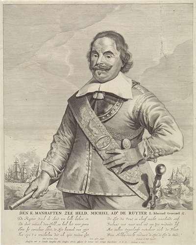 Portret van Michiel Adriaensz de Ruyter