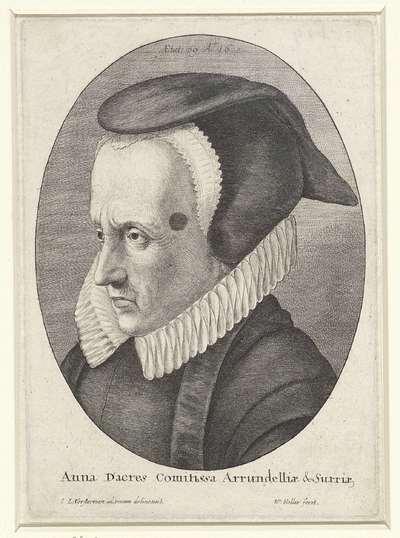 Portret van Anne Dacres, gravin van Arundel
