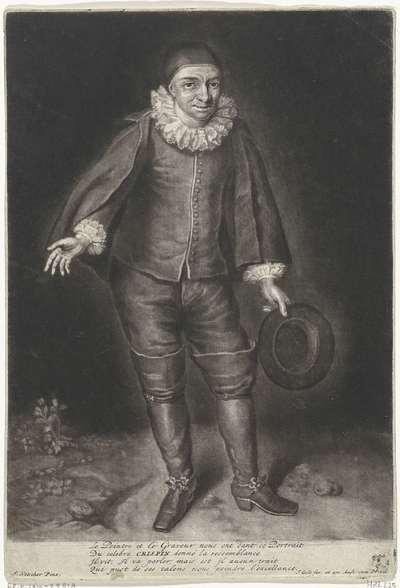 Portret van Raymond Poisson als Krispijn