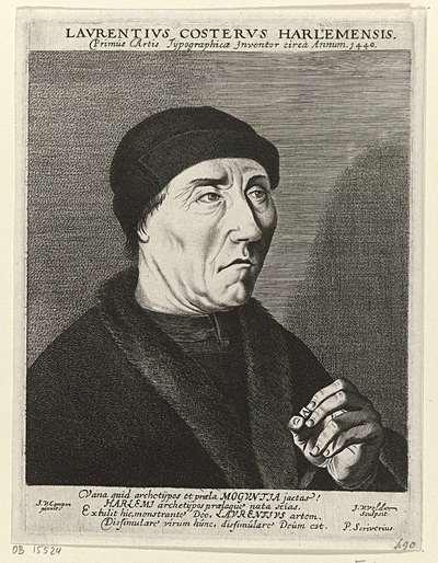 Portret van Laurens Jansz. Coster
