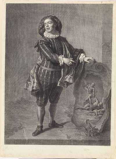 Angelo Constantini in de rol van Mezzetino
