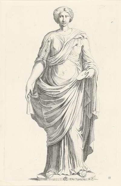 Standbeeld van een vrouw; Galleria Giustiniana del Marchese Vincenzo Giustiniani I