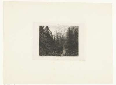 Image from object titled Berglandschap met meertje