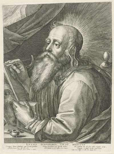 De evangelist Lucas; Lvcas Evangelista, Virgo, Medicvs.; Vier evangelisten