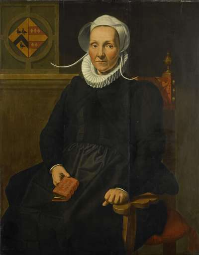 Image from object titled Portrait of Dirckje Tymansdr Gael, called van der Graft, Wife of Mattheus Augustijnsz Steyn
