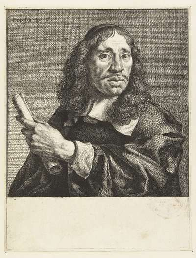 Portret van de dichter Jan de Vos