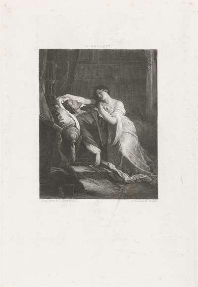 Johanna de Waanzinnige bij het lijk van Filips de Schone