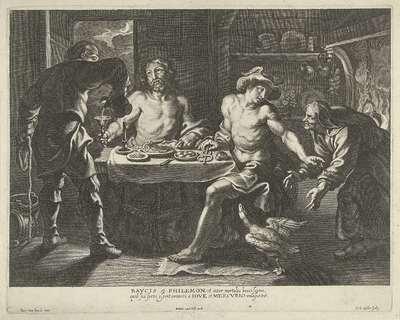 Jupiter en Mercurius in het huis van Philemon en Baucis